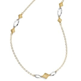 Italian 14k Two-Tone Gold Fancy Necklace - 39 inches