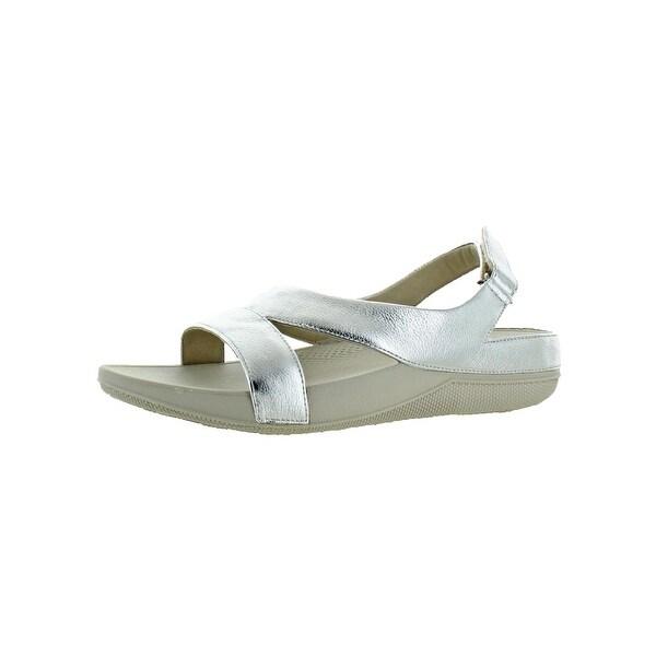 f8c1c9ee2fe8d Fitflop Womens Superlight Ringer Slide Sandals Leather Slip On - 9 Medium  (B