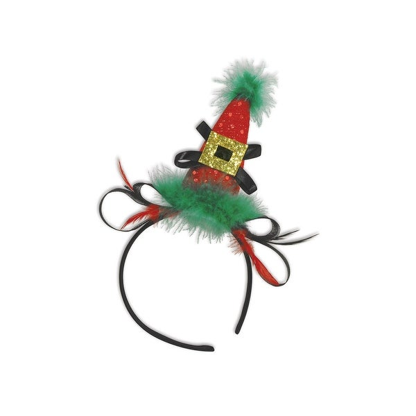 Pack of 12 Holiday Hat Christmas Headband Costume Accessories