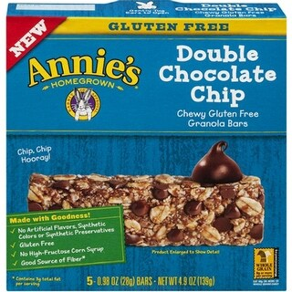 Annie's Homegrown - Gluten Free Double Chocolate Chip Granola Bar ( 12 - 4.9 oz boxes)