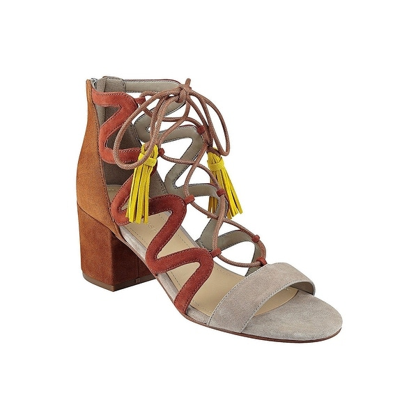 ab248865a775 Shop Marc Fisher Womens Rayz Suede Almond Toe Casual Strappy Sandals ...