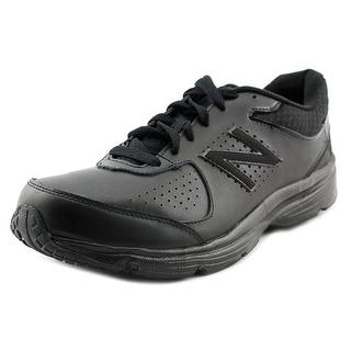 New Balance MW411 Round Toe Leather Walking Shoe