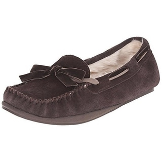 Tamarac by Slippers International Womens Rochelle Suede Moccasin Slippers