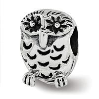 Sterling Silver Reflections Owl Bead (4.5mm Diameter Hole)