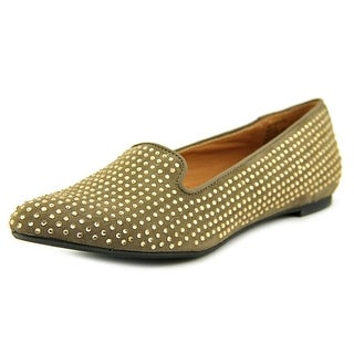Mia Crystal Women Pointed Toe Canvas Flats