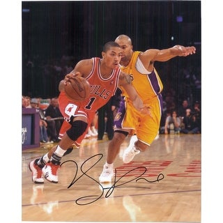Signed Rose Derrick Chicago Bulls 8x10 Photo autographed