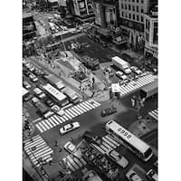 ''Times Square Crossing'' by Henri Silberman Photography Art Print (31.5 x 23.5 in.)