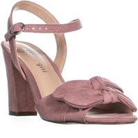 MG35 Bows Double Bow Tie Ankle Strap Sandals, Mauve