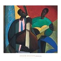 ''Reminiscing'' by Joseph Holston African American Art Print (26 x 28 in.)