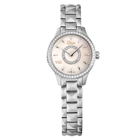 Christian Dior Women's CD151110M001 'Montaigne' Mother of Pearl Diamond Dial Diamond Bezel Swiss Quartz Watch