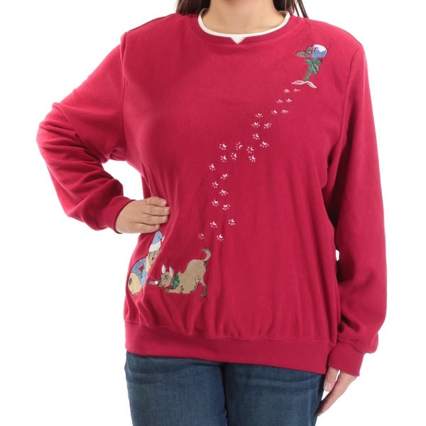 b0fc0117135 Shop Womens Red Long Sleeve Crew Neck Holiday Sweater Size 1X - Free  Shipping On Orders Over  45 - Overstock - 21386493