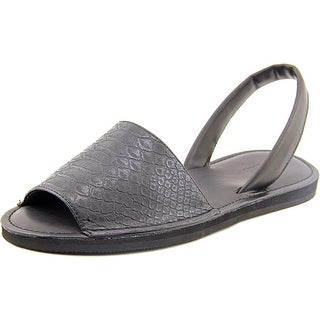 Kenneth Cole Reaction Way Out Women Open-Toe Synthetic Black Slingback Sandal