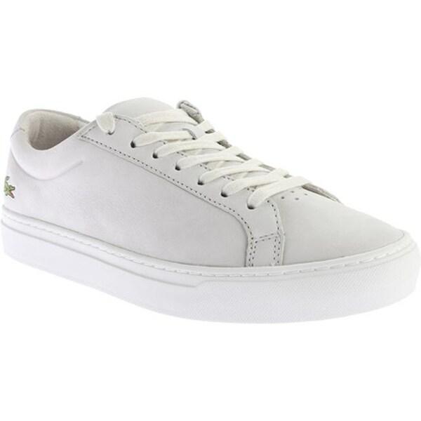 0f3008d39 Shop Lacoste Men s L.12.12 216 1 Sneaker Light Grey Nubuck - Free ...