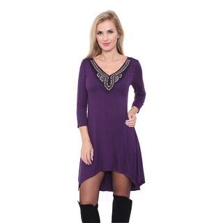 Tonya Tunic Top - Purple