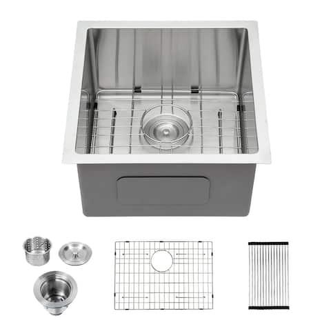 Lordear Undermount Kitchen Sink Stainless Steel Bar Sink