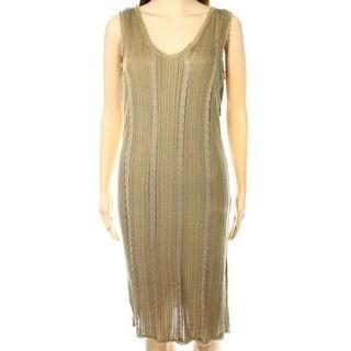 Lauren Ralph Lauren NEW Brown Women's Size Medium M Sheath Dress