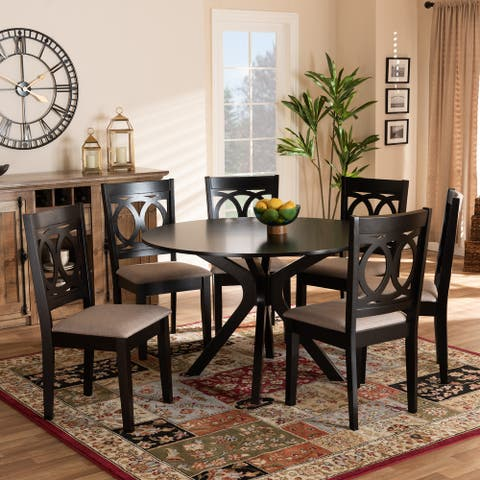 Sanne Modern and Contemporary 7-Piece Dining Set