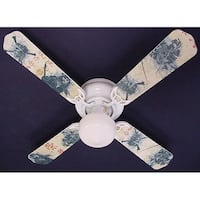 Pirates of the Caribbean Print Blades 42in Ceiling Fan Light Kit - Multi