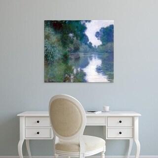 Easy Art Prints Claude Monet's 'Branch of the Seine Near Giverny' Premium Canvas Art