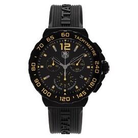 Tag Heuer Men's 'Formula 1' CAU111E.FT6024 Chronograph Rubber Strap Watch