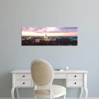 Easy Art Prints Panoramic Images's 'Twilight, Capitol Building, Washington DC, District Of Columbia, USA' Canvas Art