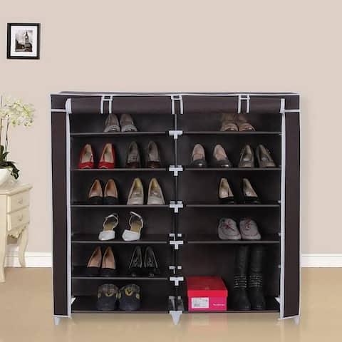6 Tiers Portable Non-woven Storage Organizer Closet Shoe Rack Colors