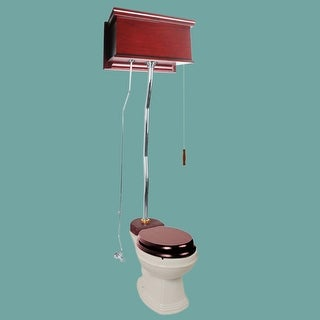 Cherry High Tank Z-Pipe Toilet Round Biscuit Bowl Renovator's Supply