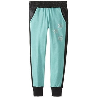 Jessica Simpson Girls Roxey Distressed Rhinestone Jogger Pants