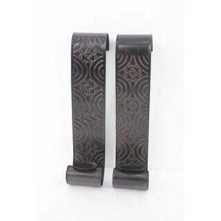 Vintage Metal Wall Candle Holder Sconce Set