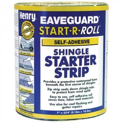 "Henry HE351AA936 Eaveguard Start-A-Roll Shingle Starter Strip, 7.5"" x 33.3'"