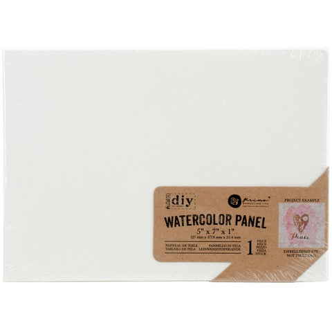 "Prima Marketing DIY Watercolor Canvas Panel-5""X7"""