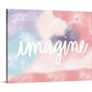 """Imagine"" Canvas Wall Art"
