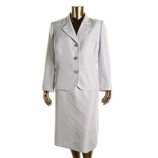 Le Suit Womens Plus Tweed 2PC Skirt Suit - 22W