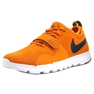Nike TRAINERENDOR L Men Round Toe Suede Orange Sneakers