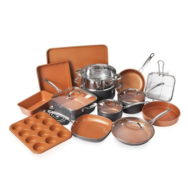 Gotham Steel 20-piece Complete Kitchen Cookware and Bakeware Set. Opens flyout.