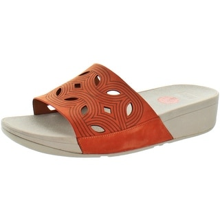 FitFlop Women's Bahia Leather Slide Sandals
