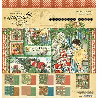 """Graphic 45 Collection Pack 12""""X12""""-Christmas Magic"""