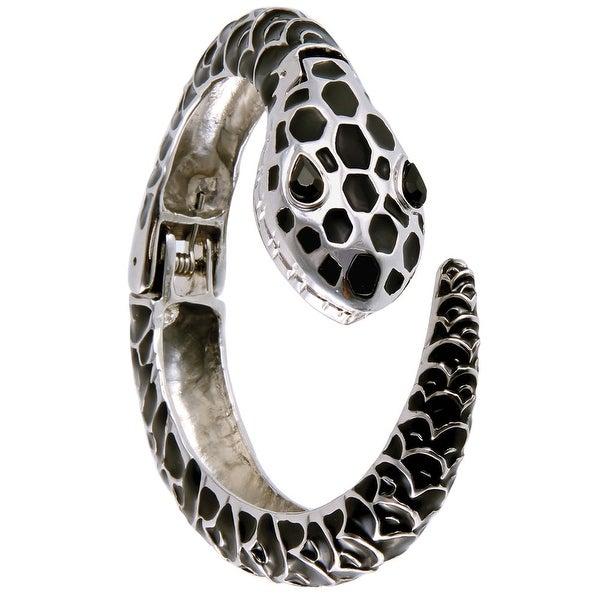 Women's Fashion Snake Shape Bangle Bracelet Watch