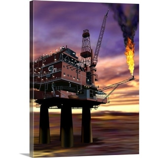"""Oil rig"" Canvas Wall Art"