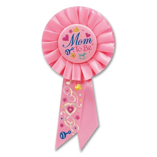 Baby Shower Badge Baby naming day Vintage Style Mum To Be Rosette