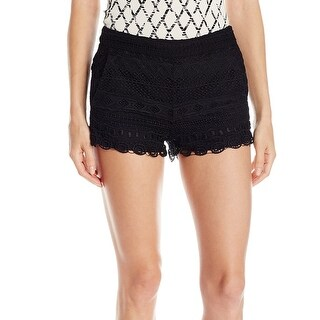 French Connection NEW Black Womens Size 0 Lace Crochet Short Shorts
