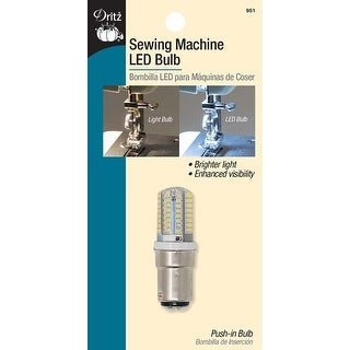 Clear W/Push-In Base - Dritz Sewing Machine Led Push-In Light Bulb