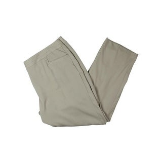 Rafaella Womens Plus Dress Pants Curvy Fit Slim Leg