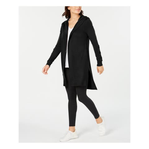 IDEOLOGY Womens Black Solid Long Sleeve Open Cardigan Sweater Size S