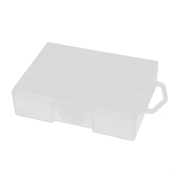 95mmx75mmx25mm Transparent Plastic Battery Box Holder Organizer for AA Batteries