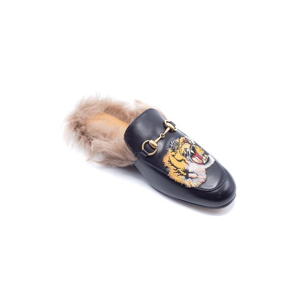 1fa70c9ed Shop Gucci Mens Princetown Emborided Tiger Slippers Loafers - Free ...