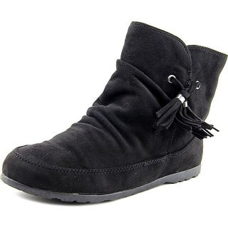 Rock & Candy Snowball Women Round Toe Canvas Black Bootie