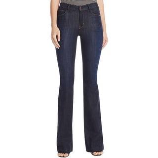 J Brand Womens Bootcut Jeans Denim Dark Wash