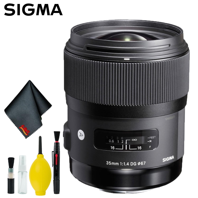 Sigma 35mm f/1.4 DG HSM Art Lens for Sony A (US Model) Kit (Standard Kit)