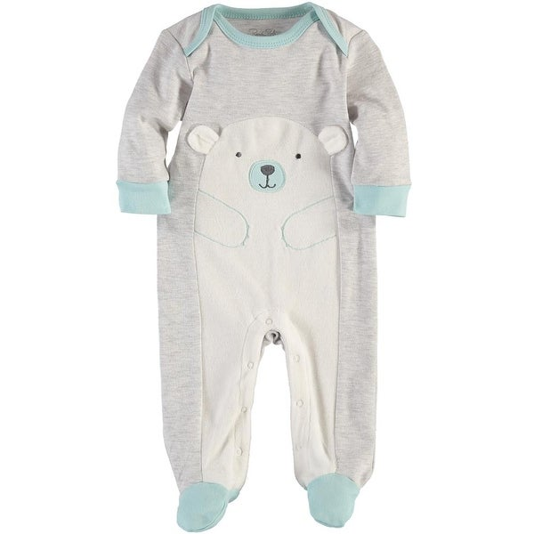 Rene Rofe Baby Boys 0-9 Months Bear Coverall - grey